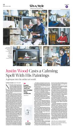 Justin Wood Casts a Calming Spell With His Paintings|Epoch Times #Arts #NYC…