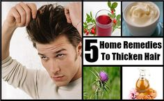 5 Home Remedies To Thicken Hair