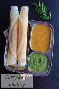 Delicious and easy to make chutney with curry leaves and coconut. Best side dish for idli and dosa. Good Healthy Recipes, Vegetarian Recipes, Chutney Varieties, Indian Food Recipes, Ethnic Recipes, Sweets Recipes, Best Side Dishes, Fusion Food, Chutney Recipes