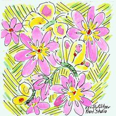 Lilly florals & butterflies