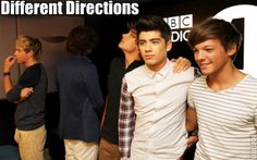 That awkward moment when One Direction is looking 5 different directions.....