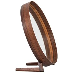 Rare Table Mirror by Uno & Östen Kristiansson, Produced by Luxus in Sweden
