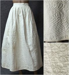 late 18th c. Hand-quilted cotton petticoat
