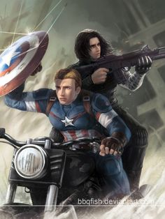 Let's ride! by BBQfish on deviantART    Please be a scene in the Avengers: Age of Ultron movie! :D
