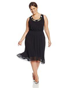 Fashion Bug Womens Plus Size Sleeveless Dress. www.fashionbug.us #curvy #FashionBug