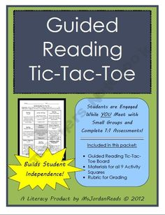 Guided Reading Tic-Tac-Toe {Student Board & Activities}