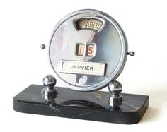 Vintage French perpetual calendar, Art Deco.