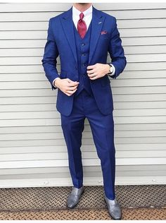 62fd9627f722 Petrol Blue Three Piece Suit