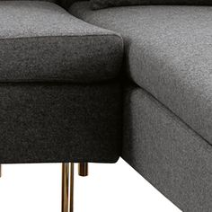 (Closeup) Laguna right hand corner sofa grey felt