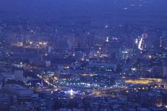 View of Damascus from Mount Qasioun. Damascus, Syria, Airplane View, Damask