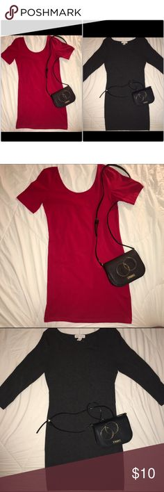 🆕Forever 21 bodycon dresses✨ ✨Forever 21 bodycon dresses✨ 🔸Both dresses only worn once for a few hours 🔸Both like brand new! 🔸I am usually a medium but bought a large which fit perfect and dresses weren't short when wearing heels 🔸Perfect for the upcoming holidays🎅🏽🍂 ✨if you are interested in one of these dresses comment below what dress so I can make a separate listing for you. If you want both you can go ahead a purchase on this listing!✨ Forever 21 Dresses Mini