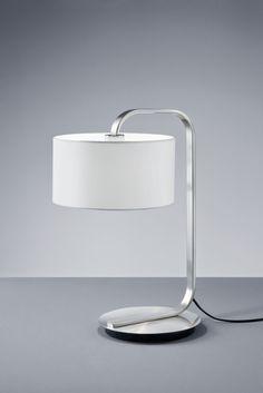 CANNES Trio - stolná lampa - biely textil - 530mm