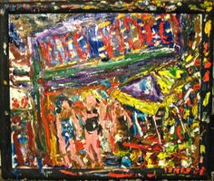 """PHILIP LAWRENCE SHERROD NA..(*FOUNDER*/-..-*STREET*PAINTERS)!?  -(STREET*PAINTER)-*PAINTING*-..(*NYC*/-..*PLEIN*AIR*!)? -2013-artist's(C)copyright TITLE: """"VIDEO/-*VIDEO/-*THREE*GIRLS*/-..-&***NYC*(!)""""? MED:OIL/-CANVAS SIZE:15.5"""" X 18.5"""" DATE:2013 artist's(C)copyright"""