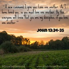 GROW in His Word Scripture Study - John 13:34-35