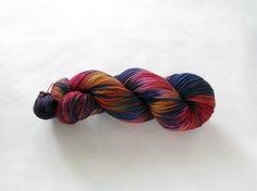 Hand Dyed Sock Yarn - Splendid Sock (Old-School Tie)