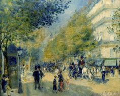 the great boulevards Pierre Auguste Renoir art for sale at Toperfect gallery. Buy the the great boulevards Pierre Auguste Renoir oil painting in Factory Price. All Paintings are Satisfaction Guaranteed Renoir Paintings, Impressionist Paintings, Paintings I Love, Watercolor Paintings, Pierre Auguste Renoir, Claude Monet, Paul Cezanne, Paris, August Renoir