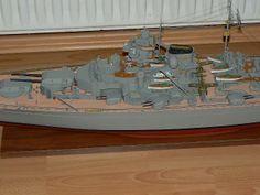 Scale Model Ships, Scale Models, Bismarck Model, Battleship, German, Dining Table, Building, Color, Home Decor