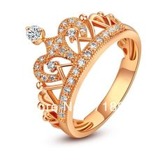 Solid 18K Rose Gold White Gold (Created ) Natural 0.29ct Diamonds Engagement Wedding Eternity  Band Crown Rings