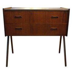 danish midcentury modern walnut nightstand # midcentury # etsy danish ...