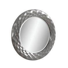 Check out the Bassett Mirror M3469BEC Transitions Glissando Wall Mirror in Silver
