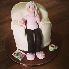 Misc 3D Cakes - Granny in Arm Chair