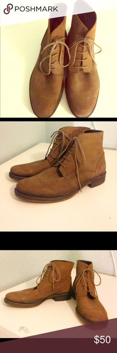 Diesel boots Lovely tan leather ankle boots for men Diesel Shoes Boots