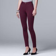 3bf6225c0f8 Petite Simply Vera Vera Wang Skinny Ponte Pants