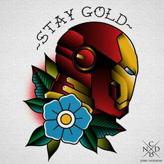 nikcasdesigns from tumblr. iron man tattoo