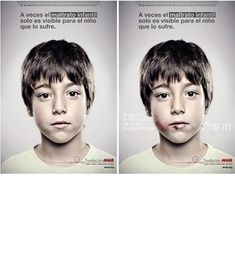 """Only for children Advertising agency Grey Spain worked with the ANAR Foundation, a Spanish child-advocacy organization, to create a poster that to most passers-by at street level read: """"Sometimes child abuse is only visible to the child suffering it."""" Look from a child's height, however, and you see bruises on the boy's face and a different message: """"If somebody hurts you, phone us and we'll help you."""" With this smart use of lenticular printing, the foundation got their message safely to…"""