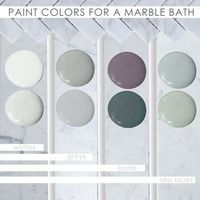 Paint colors for a marble bath...