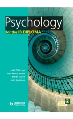 IB Psychology is a varied and demanding qualification - you need to be independent, inquiring and knowledgeable. But finding your way around the huge amounts of research in Psychology and relating them to your exams can be daunting. ISBN: 9781444181166