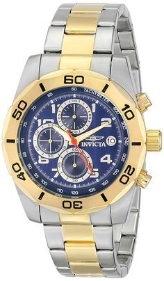 Invicta Men's 16082 Pro Diver Analog Display Japanese Quartz Two Tone Watch >>> More info could be found at the image url.