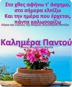 Good Morning Gif, Greek Quotes, Food And Drink, Desserts, Gifs, Wallpapers, Decor, Art, Tailgate Desserts