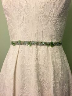 Seafoam and Mint Green Embellished Sequin by BlushingBridalShop