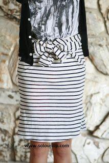 Agulha de ouro Ateliê: Transformando uma blusa em saia