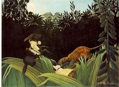 Scout Attacked by a Tiger, 1904 - Henri Rousseau