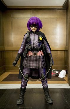 The one and only Hit-Girl a.k.a who my costume is based off of :)