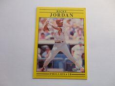 Ricky Jordon Fleer 91 Baseball Collection Card.