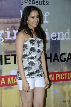 Shraddha Kapoor Showcasing Her Silky Smooth Legs At Half Girlfriend Writer Chetan Bhagat's Book Launch Event