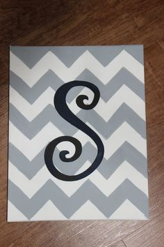 Chevron initial canvas
