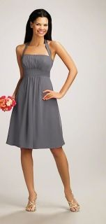 Alfred Angelo Style 7016S Bridesmaid Dress in Charcoal