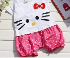 Baby girls Hello Kitty One pc Romper by LittleSweetiePies7 on Etsy