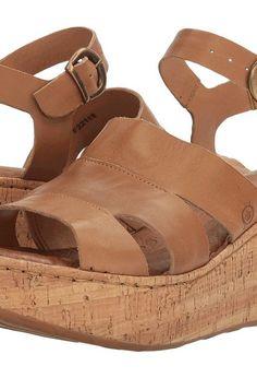 Born Anori (Tan Full Grain) Women's Wedge Shoes - Born, Anori, F22116-230, Footwear Open Wedge, Wedge, Open Footwear, Footwear, Shoes, Gift, - Fashion Ideas To Inspire