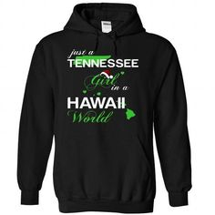 (TNNoelXanhChuoi002) Just A Tennessee Girl In A Hawaii  - #trendy tee #sweatshirt ideas. SECURE CHECKOUT => https://www.sunfrog.com/Valentines/-28TNNoelXanhChuoi002-29-Just-A-Tennessee-Girl-In-A-Hawaii-World-Black-Hoodie.html?68278