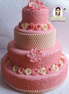 3 Amazing Fake Cake Making Techniques Photos - New Site Pretty Cakes, Cute Cakes, Beautiful Cakes, Amazing Cakes, Elegant Wedding Cakes, Wedding Cake Designs, Fondant Cakes, Cupcake Cakes, Debut Cake
