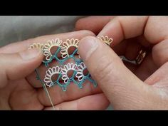 Creative Embroidery, Hand Embroidery, Needle Lace, String Art, Crochet Doilies, Tatting, Beaded Jewelry, Heart Ring, Projects To Try