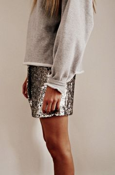 sequins and french terry.