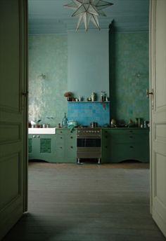 Zoek je tegels bij witte hoogglans keuken keuken pinterest wands - Credence cement tegel ...
