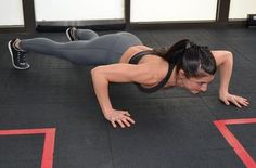 16-Minute Tone-Everything Workout: Alligator Push-Up | Form Tip: Make it easier by lowering knees to ground.