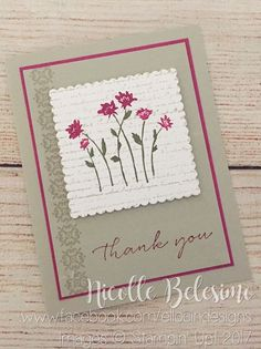 Stampin Up - Background Bits Note Cards, Thank You Cards, Stamping Up, Rubber Stamping, Stampin Up Catalog, Scrapbook Cards, Scrapbooking, Bird Cards, Card Sketches